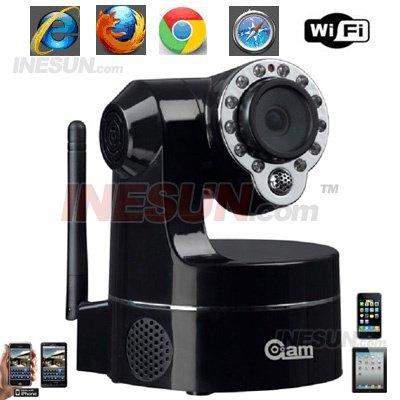 Cctv 3.6 mm Day & Night Pan / Tilt WIFI Indoor sem fio do IP do IR Camera suporte 3 G Mobile View visibilidade noturna de até 15 Mete(China (Mainland))