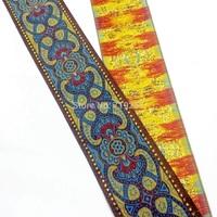 5cm 50mm 2'' costume curtain laciness lace national jacquard ribbon embroidery woven webbing ethnic Tuten Sky Blue Filigree Trim