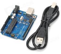 UNO R3 Development Board Microcontroller MEGA328P ATMEGA16U2 Compat for Arduino - Blue + Black