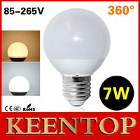 1Pcs High Quality 360 Degree LED Ball Bulb SMD5730 E27 AC110V 220V 7W LED Lamp Spotlight Pendant Chandelier Christmas Light R60