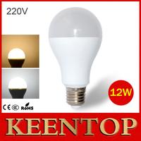 1Pcs High Quality E27 AC 220V 12W LED Ball Bulb 5730SMD LED Lamp Solar Wall Light For New Year Indoor Lighting White,Warm White