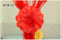 Wholesale Korean fashion cheapest wedding Christmas decoration supplies curtains tie flowers for home party B-80