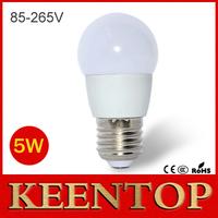 1Pcs Super Quality E27 5W LED Energy Saving Ball Bulb AC 110V - 220V 5730 SMD LED Lamp Chandelier light for New Year lighting