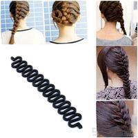 Fashion Hair Braiding Braider Tool Roller With Magic hair Twist Styling Bun Maker FS2001