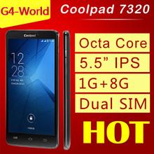 Original Coolpad 7320 MTK6592 Octa Core WCDMA Mobile Phone 1.7G 5.5″ HD Dual SIM 1G RAM+8GB ROM 13.0MP Camera Russian Language