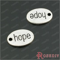Wholesale 14*10mm Antique Silver Oval Hope Alloy Charms Pendants Diy Jewelry Findings Accessories 30 pieces(JM6624)