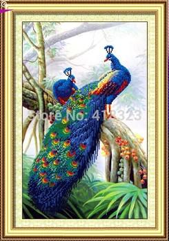 5D сделай сам алмаз живопись лес павлин вышивки крестом комплект животное комплект вышивка горный хрусталь круглый кристалл стены домашнего декора вставить картины