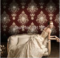 2014New DIY Rhinestone wallpaper Living room TV backdrop 3D wall paper roll bedroom  home