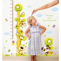60cm-180cm Height Measure Koala Kids Growth Height Chart Wall Stickers Removable Decal for Nursery Playroom Kids Bedroom