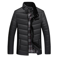 Winter Mens Jackets and Coats Warm Down Jacket Stand Collar Winter Parkas Outdoor Men's Luxury Brand Cotton Overcoat Size XL~5XL