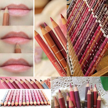 12 PCs Per Set Brand New Women's Professional Lipliner Waterproof Lip Liner Pencil 15CM 12 Colors(China (Mainland))