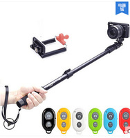 2014 Hot Self-timer Mobile phone Extendable Ski Pole Handle Telescopic Monopod With Tripod Mount For iphone Samsung