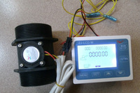 "G 2"" inch Flow Rate Water Sensor Meter+LCD Digital Display Control Programmable"