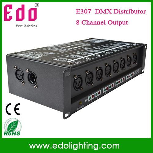 NEW!! 8CH DMX Splitter DMX512 Light Stage Light Signal Amplifier Splitter 8 way DMX Distributor(China (Mainland))