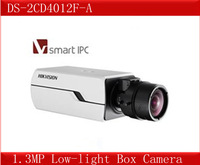 DS-2CD4012F-A,Hikvision 1.3MP Low-light Box Camera,Smart Codec&IP Camera,Smart Face&Audio Detection,Two-way audio