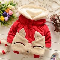 winter kid warm jackets kids girls children girls baby smart cute animal fox outwear coats Down 2014 KT555R