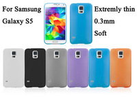 1PC Ultra-thin 0.3MM 4g PP matte Cases Fit For Samsung S5 i9600 cover /shell For Galaxy S5 phone bags China post Free ship