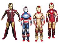 Children's iron man suit Cosplay hero Superman Costume Tony Stark Superman dress
