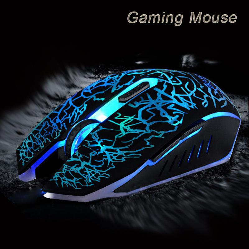 ottico usb fissato il mouse di gioco 7 colori vivaci led topi gioco 4000 regolabile dpi 6 pulsanti per computer laptop pc