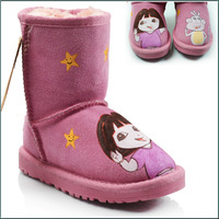 2014 new ankle warm boots short plush children snow shoes for kids winter thicken artificial winter boots size 25-39