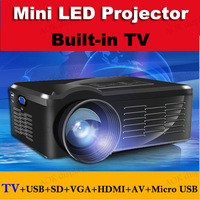 2015 new 1200 Lumens led video projector, Home Theater 3D Cinema 1080P HD HDMI USB Digital Multimedia LCD LED Mini proyector