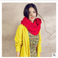 Hot new Korean version of the 2014 women autumn and winter woolen scarf factory outlets Large twist scarf freeshipping