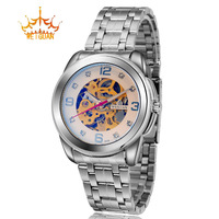 Hot Sale New Weiguan Brand Stainless Steel Automatic Hollow Out Mechanical Waterproof Watch