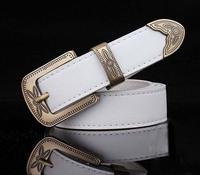 2014 Hot Women's belts Royal Female Belt Vintage Genuine Leather Pigskin pants Belt Pin Buckle Strap Wholesale