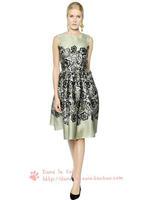 Hot Sale Summer Desigual Women Elegant Dresses Fashion Print Evening Party Dresses Cheap Women Clothing Mujer Free Ship WJA1230