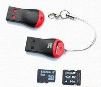 1000pcs/lots  USB 2.0 MicroSD T-Flash TF Memory Card Reader whistle Style free shipping