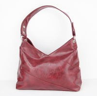 H057(red) New designers 2014 famous Leisure women bag,PU,Interior Structure:3 small pockets,Free shipping