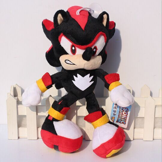 EMS 50pcs Black Sonic The Hedgehog Plush Toys 29cm Shadow the hedgehog Stuffed Dolls With Tag Wholesale(China (Mainland))