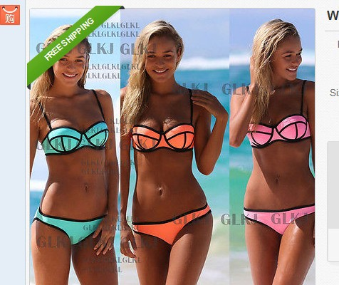 free shipping women's two piece swim suits swimwear rash guard separates sexy wire ring windsurf trunks S-3150(China (Mainland))