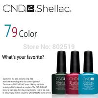 10Pcs/lot 2014 New Coming High Quality CND Shellac Soak Off UV LED Nail Gel Polish Total 79 Colors For Nail Gel Free Shipping