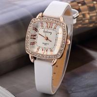 3FH15 GOGOey Women Square Case Quartz Watches,Bright PU Leather Band Strap Colorful Table relogio feminino