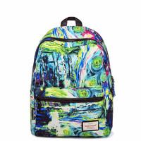 "Fresh style multiple colors leaves pattern ultralight printing backpack canvas women backpack travel bag 15"" laptop bag 42*32cm"