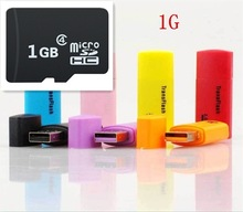 Free Shipping Consumer Electronics Accessories Parts 1G TF Memory Card  micro SD Memory Card + SD Adapter + TF Card Readers