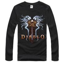 Diablo Man - Cotton Long Sleeved T-shirt Free shipping