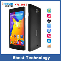 Free shipping  iocean X7S 5' 2015 Octa Core Android Cell Phones MTK6592 1.7GHz 8GB ROM HD 1280X720 Dual SIM Wifi GPS WCDMA