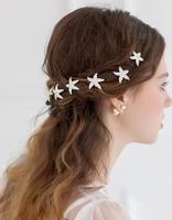 6pcs/lot Rhinestone Wedding Hairpins Starfish Hair Pins Crystal Clips for Hair Bridal Hair Accessories Wedding Jewelry WIGO0353