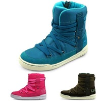 3 pure color boots cotton-padded fashion quality shoes child boots waterpro sport shoes children shoes girls boys boots 2014 new