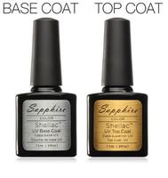 Top Coat+Base Coat Kit Civi Gel Nail Polish Gorgeous Colors UV Gel Nail Polish Long-lastting Up to 40 Days