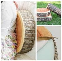 1Pcs New Stump Shaped Decorative Pillows Cute Round Woods Grain Soft Plush Chair Seat Cushion Pillow Home Car Decor EJ673462