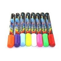 8pcs/set 6mm Highlighter Fluorescent Liquid Chalk Marker Pen for LED Writing fluorescent Board pen,accept small qty order