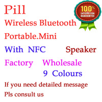 30/lot New style bluetooth speaker portable wireless bluetooth capsule mini speakers,bluetooth stereo PILL mini speaker Free DHL