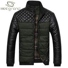 2015 New Winter Men Coat  Warm PU Leather Patchwork Men Jacket Coat Drop Shipping MWM617(China (Mainland))