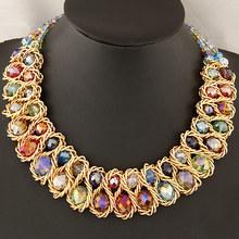 Fashion Necklaces for Women 2014 New Brand Double Establishment Crystal Vintage Necklaces & pendants Jewelry  Statement