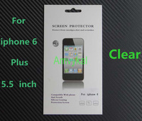 1000 Sets 5.5 inch Phone Transparent Screen Guard For iphone 6 Plus Screen Protector Clear Protective Film With Retail Package