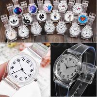 D19   Durable Transparent Plastic PVC Watch Quartz Watches Useful For Unisex 19 Style
