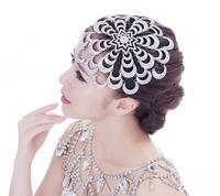 Luxury Wedding Headpiece Jewelry Bridal Flower Tiara Noiva Rhinestone Head Jewelry Hair Accessories Headwear Hairwear WIGO0366